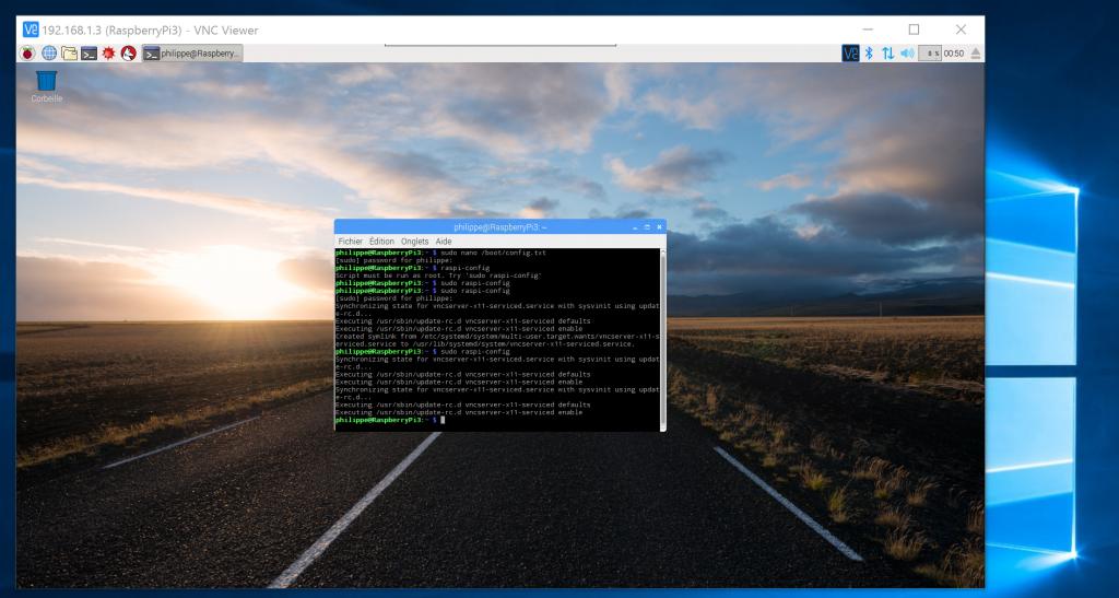 Prise de contrôle graphique du Raspberry avec VNC