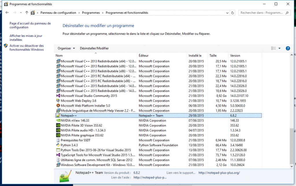 NotePad++ installé via PowerShell