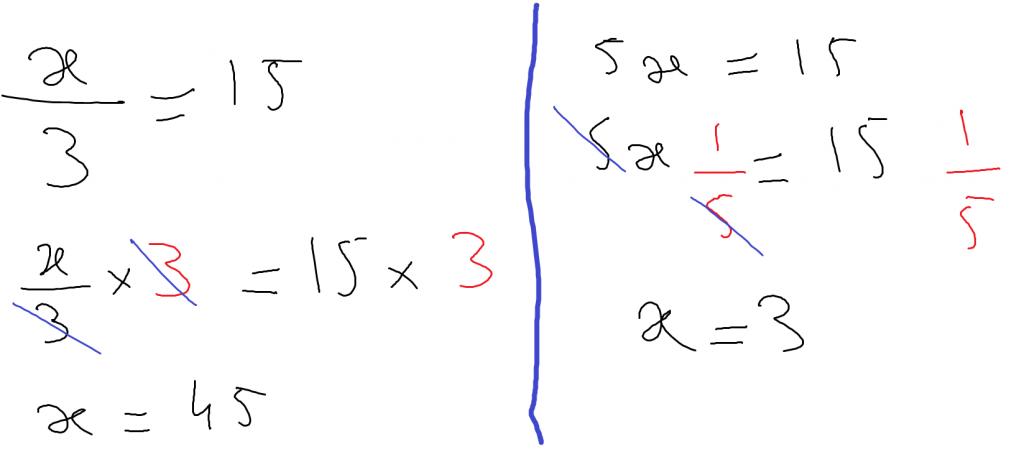 erreurs de calcul : égalité