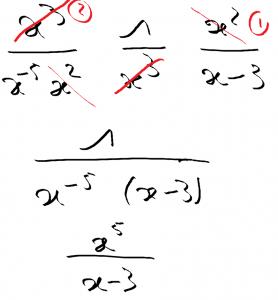 erreurs de calcul : barre de fraction