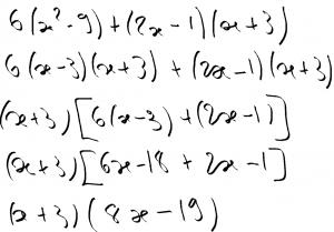erreurs de calcul : factorisations et développements