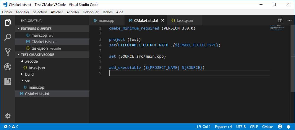 CMakeLists.txt in VS Code