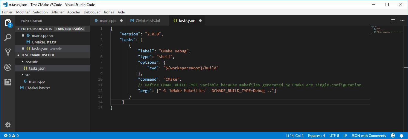 tasks.json in VS Code