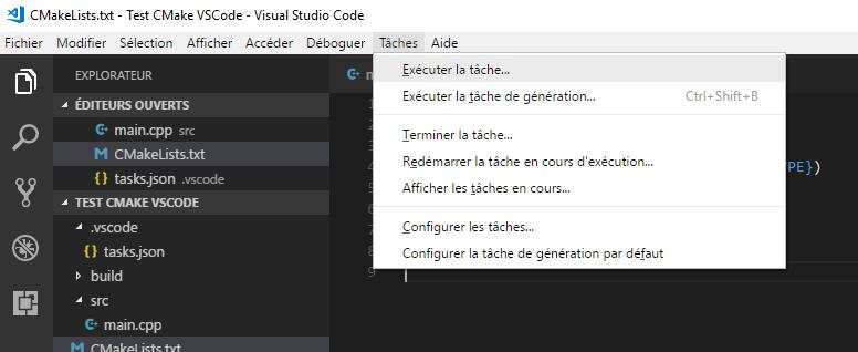 Execute task in VS Code
