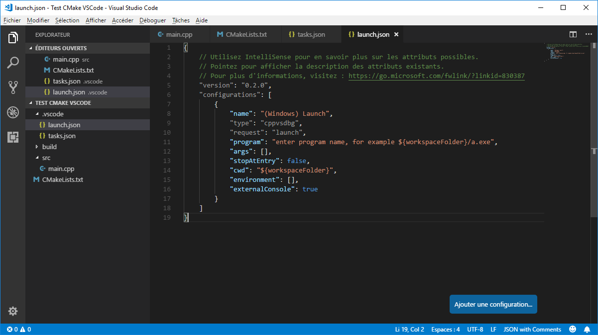 launch.json from VS Code