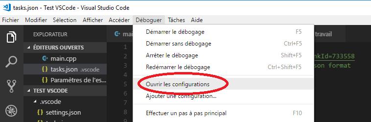 Open Configurations in VS Code