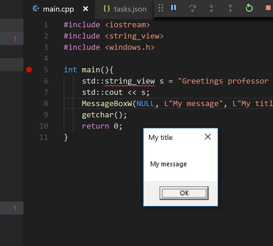 Successful linking with VS Code and Clang