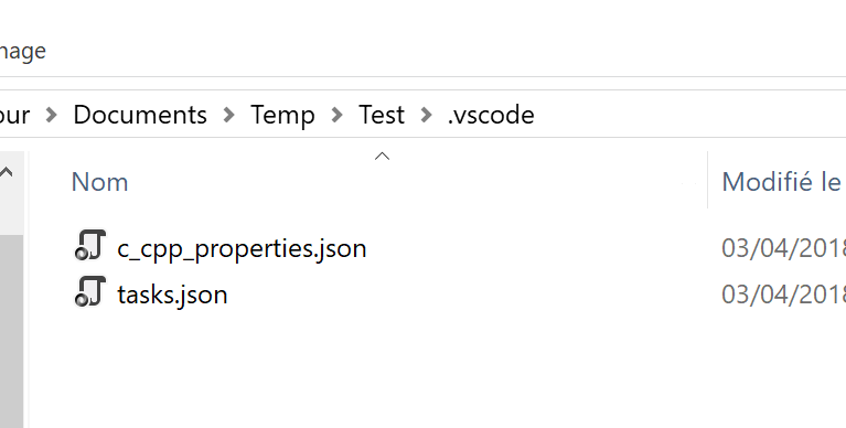 tasks.json created by VS Code