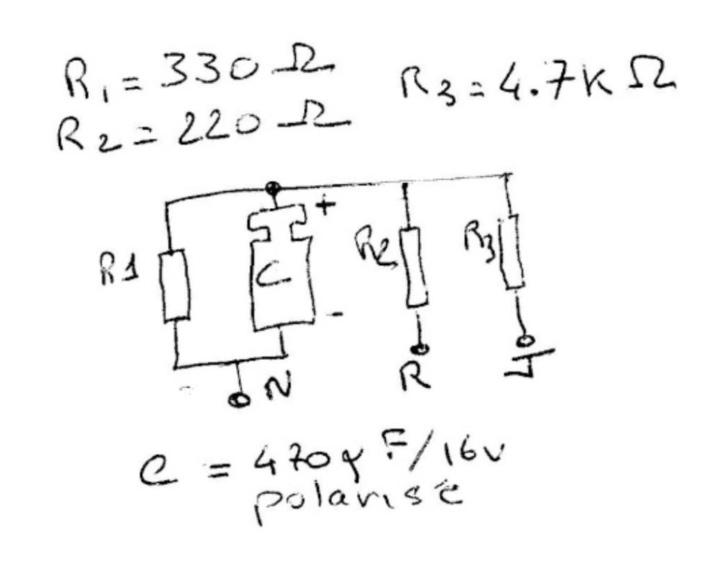 Schéma électronique du leurre de l'ECU du ZX6R
